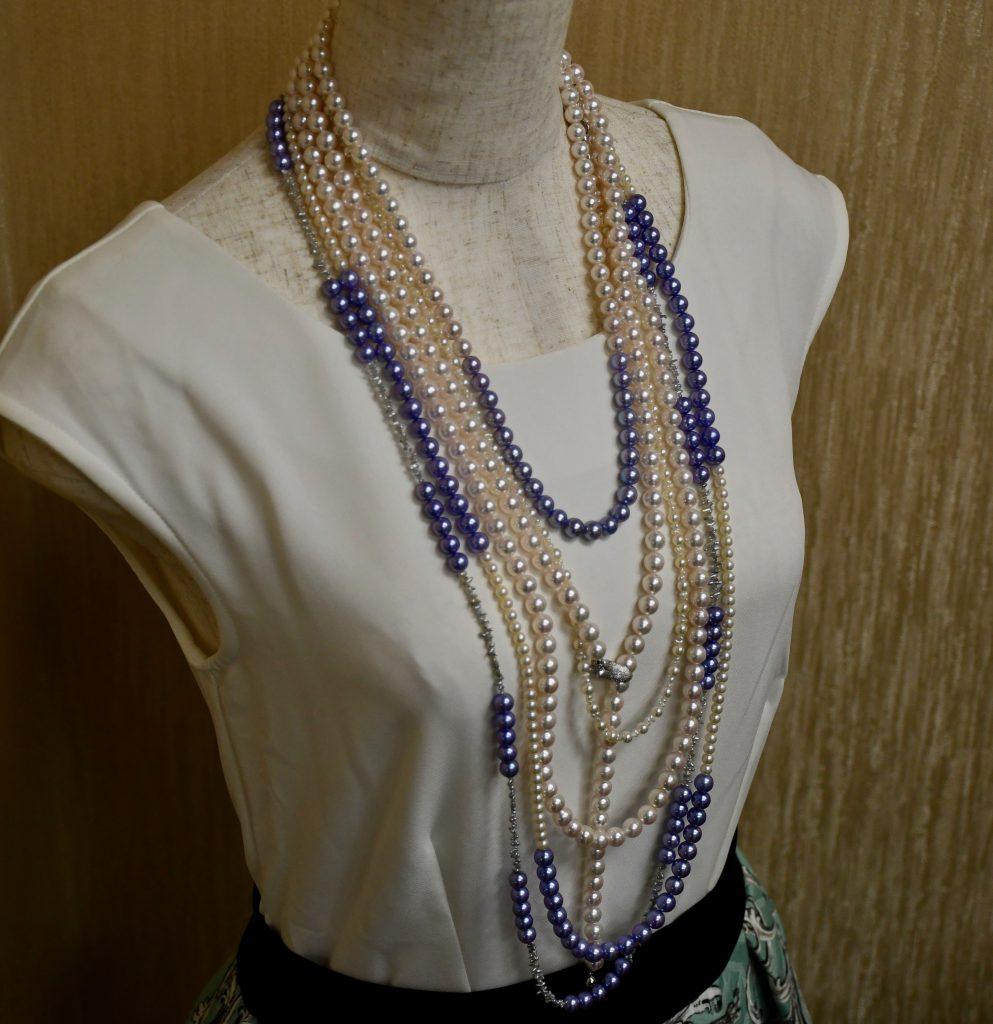 あこや真珠デザインネックレス