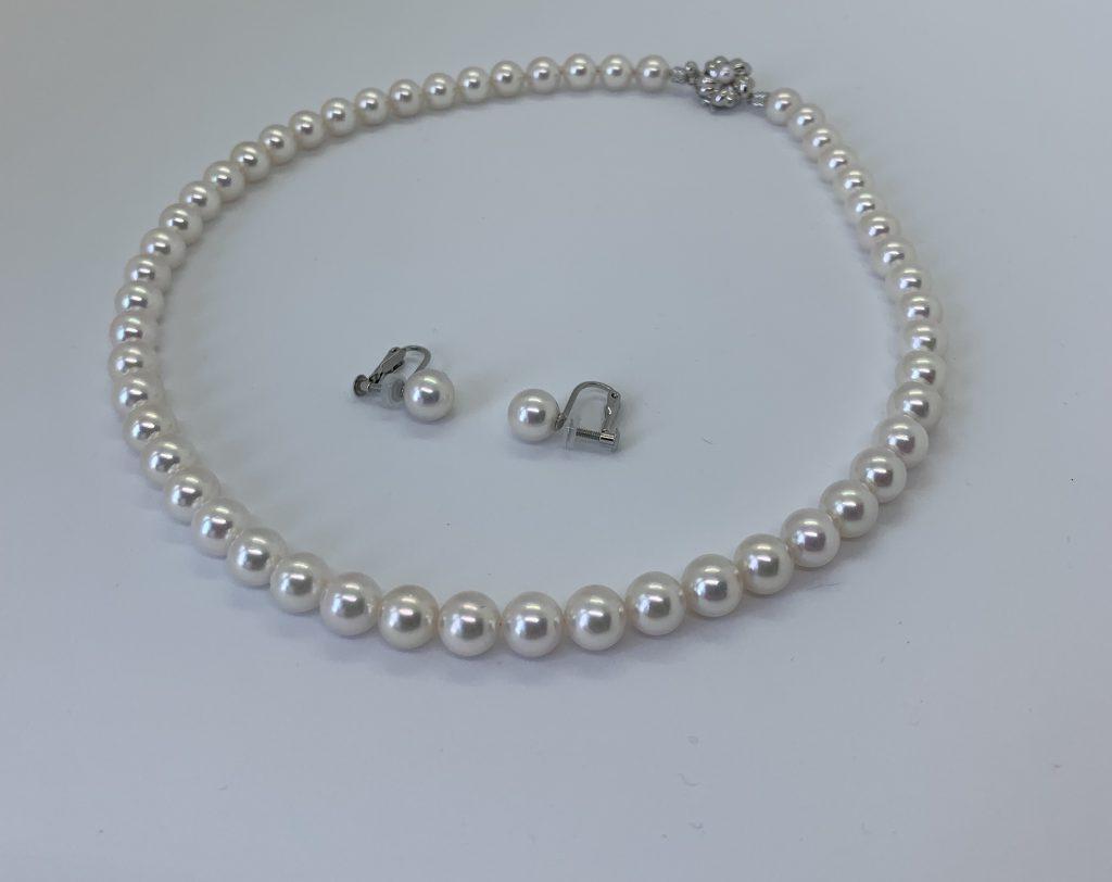 あこや真珠ネックレスイヤリング
