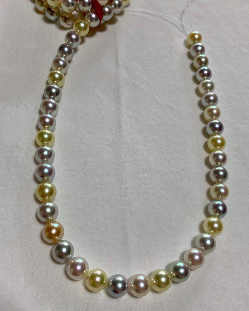 あこや真珠マルチネックレス